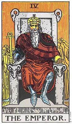 The Emperor Meaning - Original Rider Waite Tarot Depiction