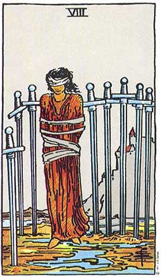 Eight of Swords Meaning - Tarot Card Meanings – Labyrinthos