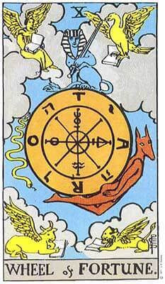 The Wheel of Fortune Meaning - Major Arcana Tarot Card