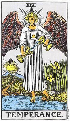 Temperance Meaning - Original Rider Waite Tarot Depiction