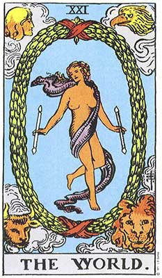 The World Meaning - Original Rider Waite Tarot Depiction