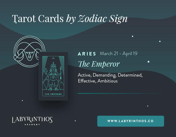 Aries and the Emperor: Astrology Tarot Cards - Tarot Cards by Zodiac