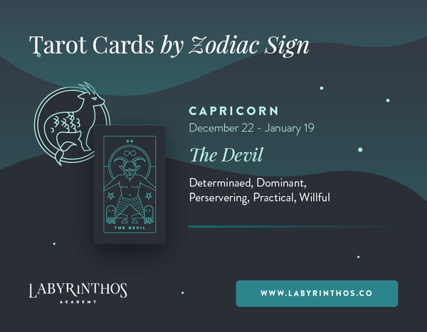 Capricorn and the Devil: Astrology Tarot Cards - Tarot Cards by Zodiac