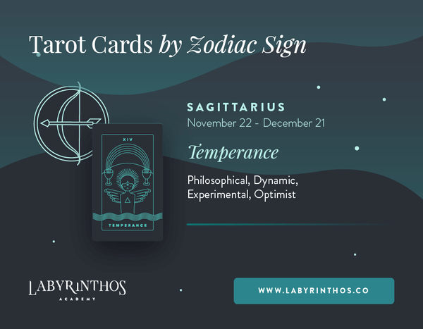 Sagittarius and Temperance: Astrology Tarot Cards - Tarot Cards by Zodiac