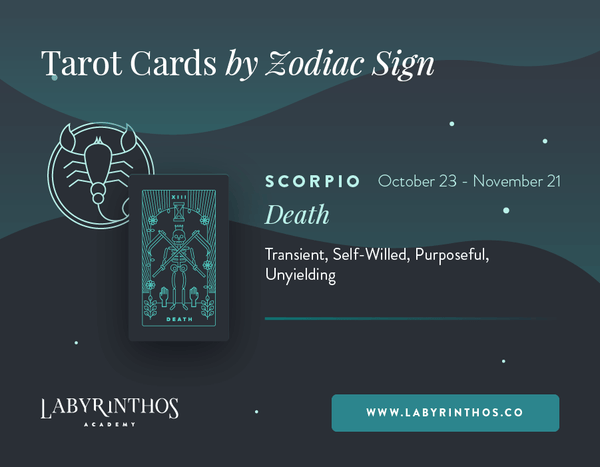 Scorpio and Death: Astrology Tarot Cards - Tarot Cards by Zodiac