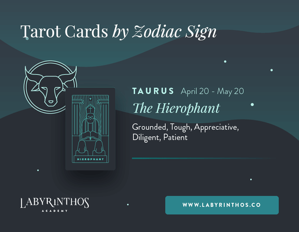 Taurus and the Hierophant: Astrology Tarot Cards - Tarot Cards by Zodiac