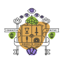 Labyrinthos Academy Crest: Tarot Classes for Wizardry and Witchcraft