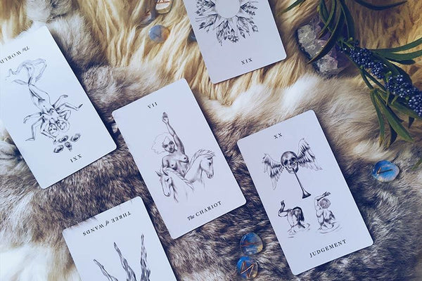 An example of a tarot reading using the Cancer New Moon Spread