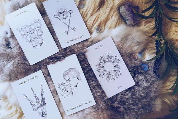 An example of a tarot reading using the Taurus New Moon Spread