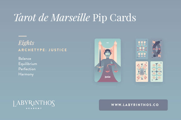 The Minor Arcana of the Tarot de Marseille: A System of Understanding Pip Cards - Justice and the Eights