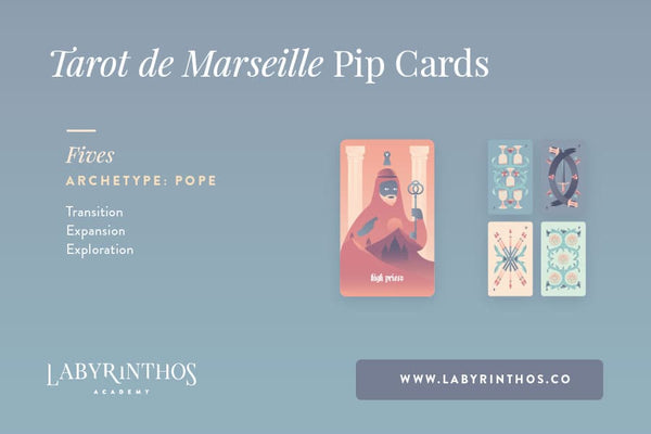 The Minor Arcana of the Tarot de Marseille: A System of Understanding Pip Cards - The Pope or Hierophant and the Fives