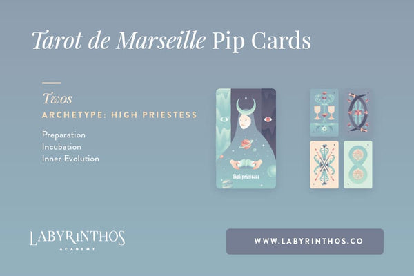 The Minor Arcana of the Tarot de Marseille: A System of Understanding Pip Cards - The High Priestess and the Twos