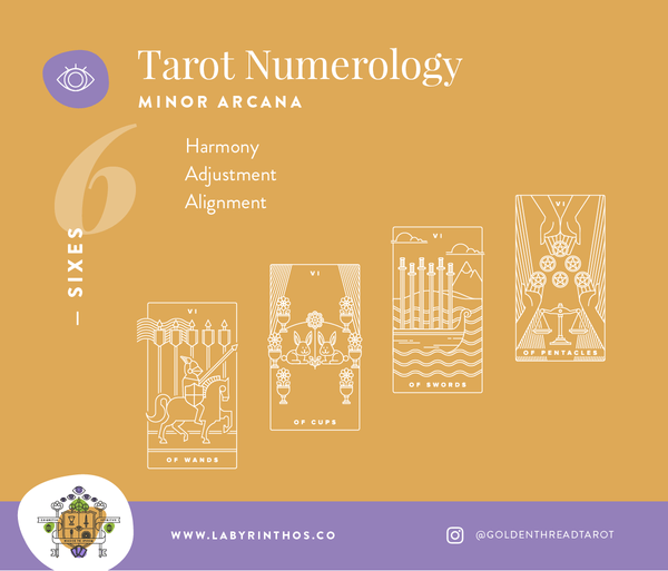 Tarot and Numerology - what do the sixes mean in tarot?