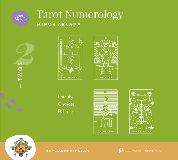 Tarot and Numerology - what do the twos mean in tarot?