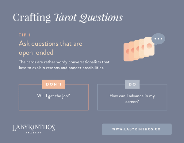 Ask open ended questions - Tip 1 - How to Phrase Effective Tarot Card Questions and Get the Most From Your Tarot Reading