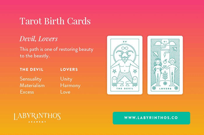 The Devil and Lovers - Tarot Birth Card Meaning Revealed