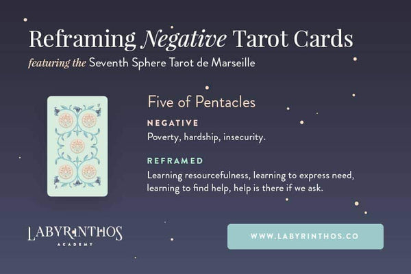Reframing Negative and Scary Tarot Cards - Five of Pentacles Tarot Card