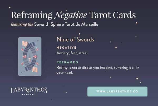 Reframing Negative and Scary Tarot Cards - Nine of Swords Tarot Card
