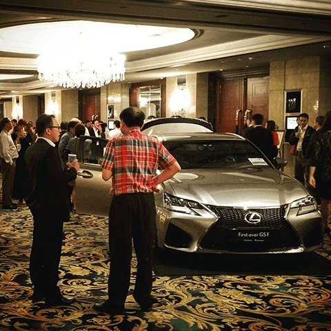 Dining with Lexus LS, and F.