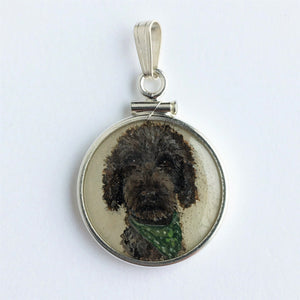 Watch as I paint a Golden Doodle onto a Penny!