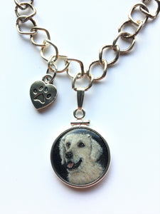 Labrador painted on a penny. Custom pet portarits on a penny. Penny paintings.