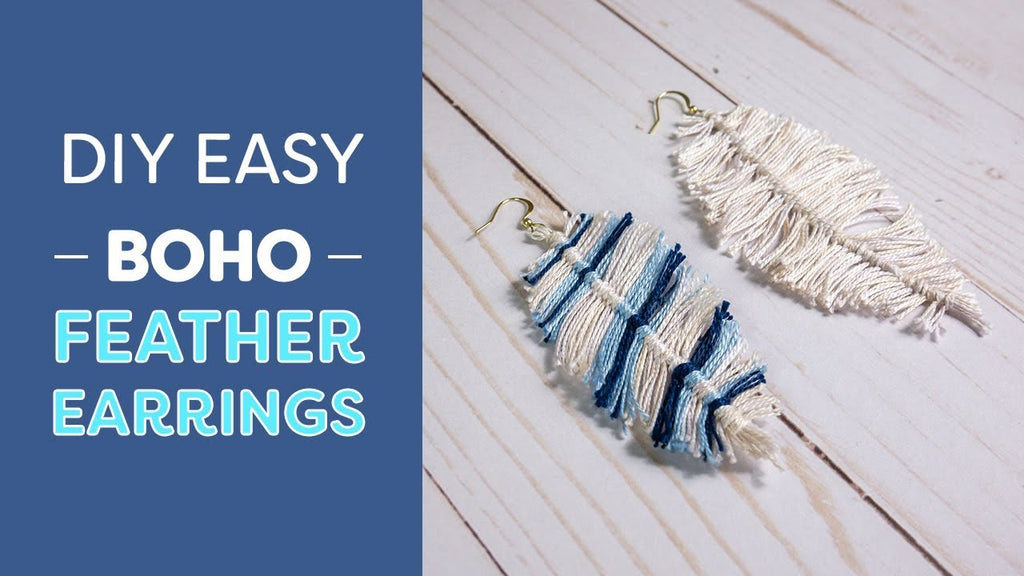 Easy Boho Feather Earrings