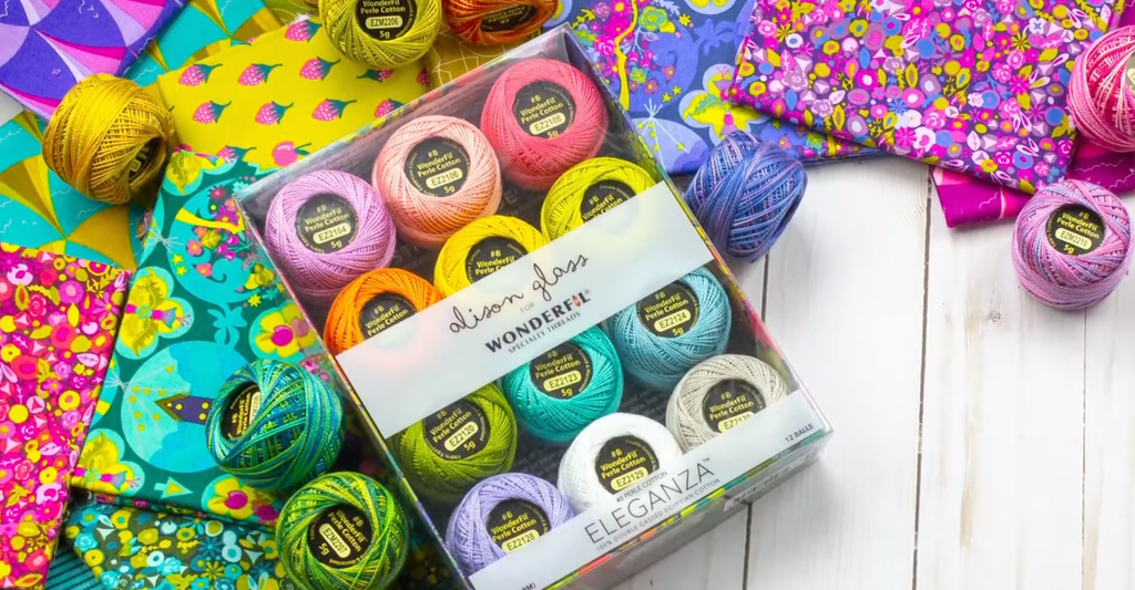 Fall in Love With Alison Glass Eleganza™ Perle Cotton Thread!