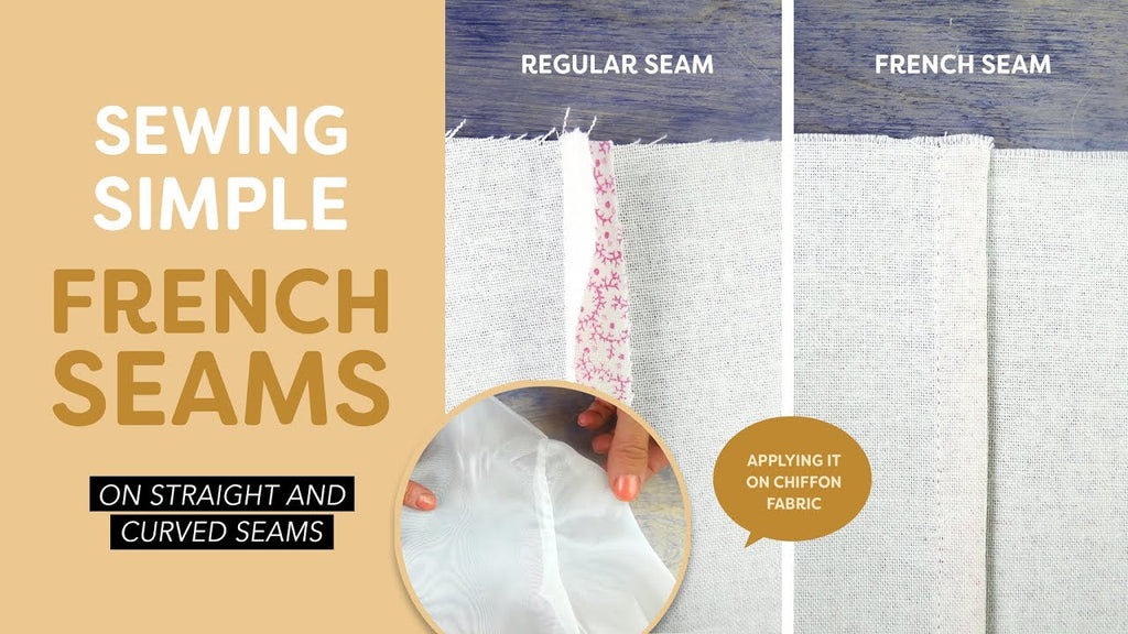 Sewing French Seams on Curved and Straight Seams Tutorial