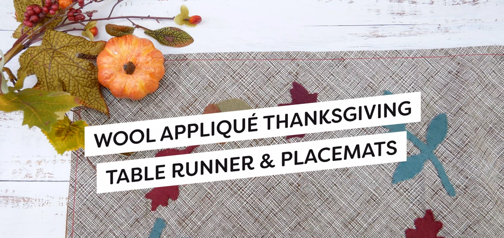Wool Appliqué Thanksgiving Placemats