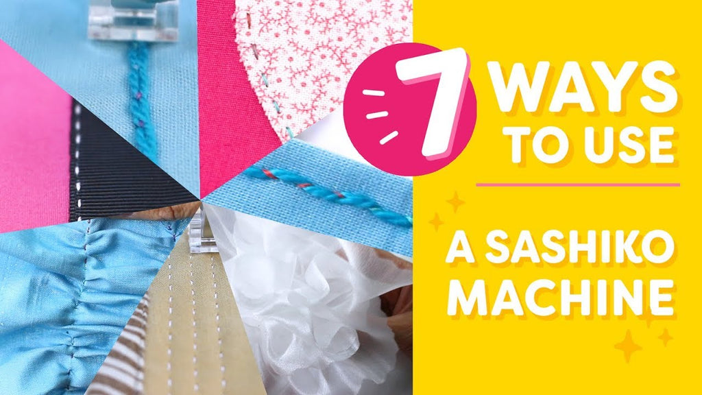 7 Ways to Use a Sashiko Machine