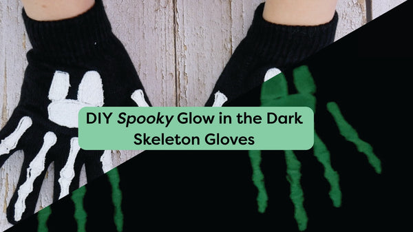 DIY Glow in the Dark Skeleton Gloves