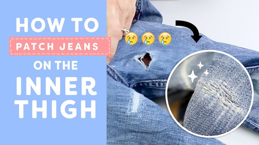 How to Patch Jeans on the Inner Thigh