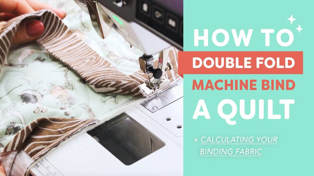 How to Double Fold Machine Bind a Quilt