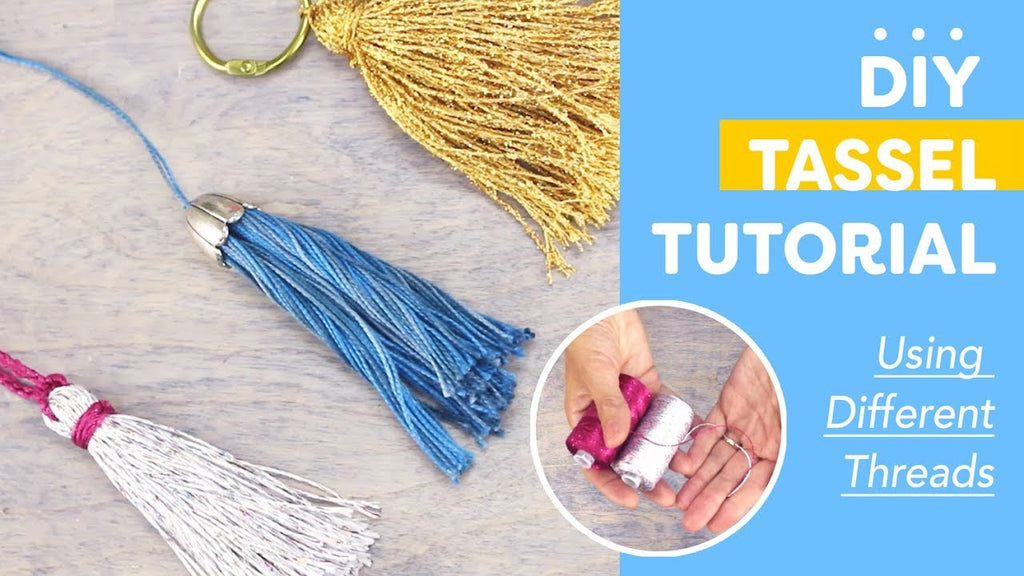 DIY Tassels Tutorial Using Different Threads💛💚💜