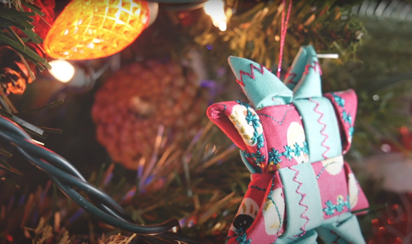 DIY Danish Folded Fabric Star Ornaments