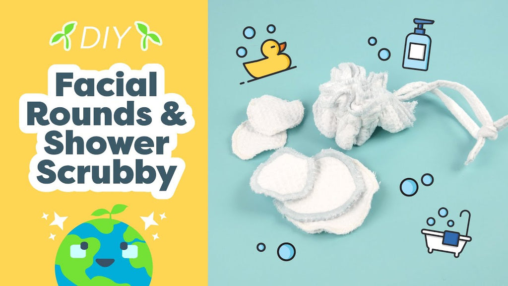 Sustainable Sewing Projects - Reusable Cotton Rounds & Shower Scrubby