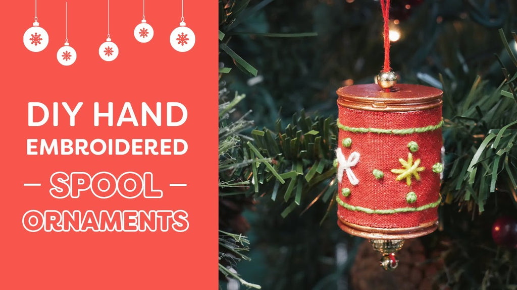 DIY Hand Embroidered Spool Ornaments🎄🌟