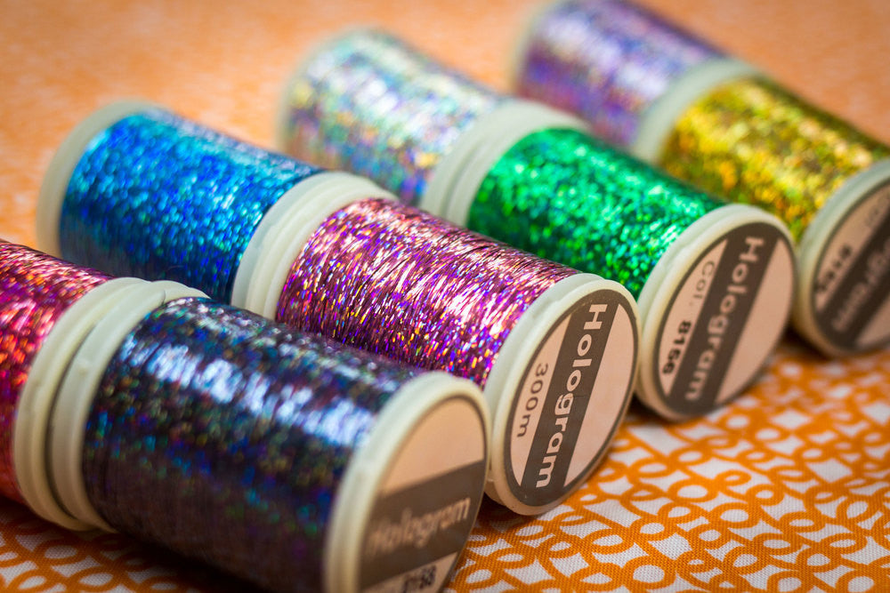 Hologram™ Slitted Polyester Thread for Embroidery