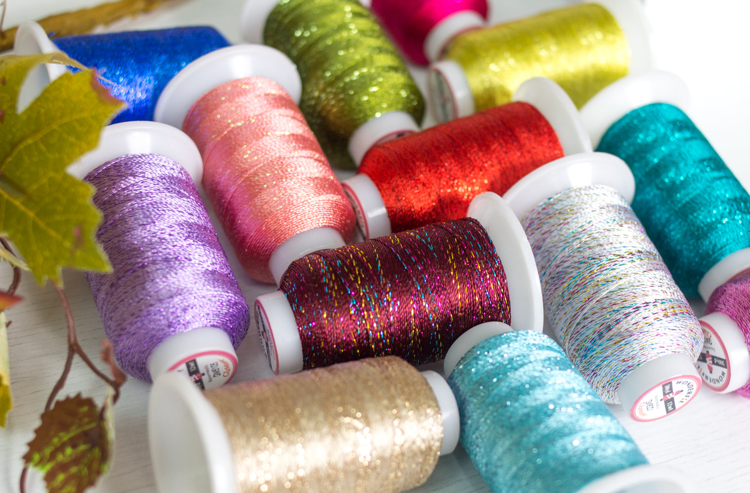 GlaMore 12wt, Rayon and Metallic Embroidery Thread