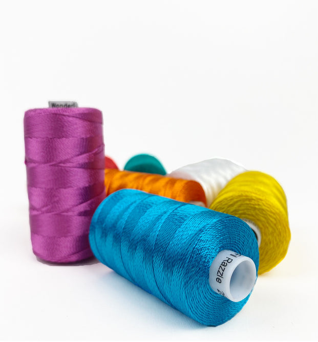 Razzle™ 6ply Rayon Thread for Bobbin Work