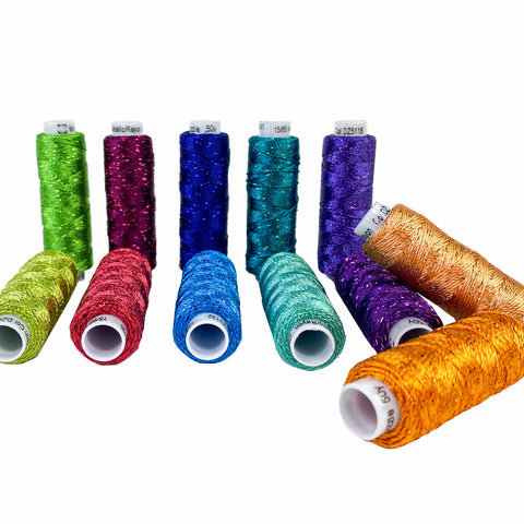 Sue Spargo Dazzle™: Rayon and Metallic Thread