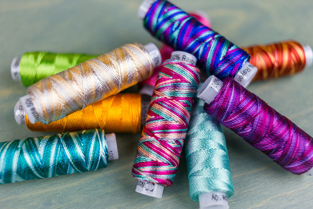 Razzle: Rayon Thread for Bobbin Work by Sue Spargo