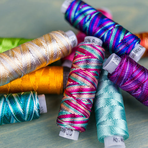 Sue Spargo Razzle™ : 8wt Rayon Thread