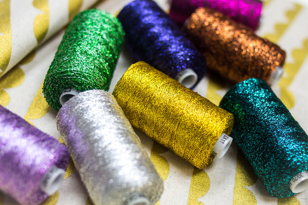 Sizzle™ 4ply Rayon with Metallic Couching Thread