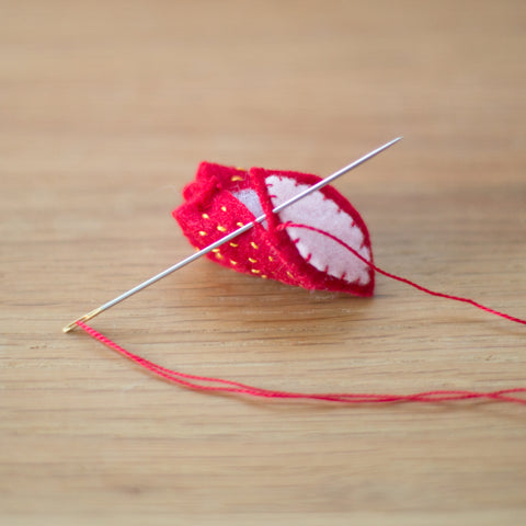 Stitching together the strawberry
