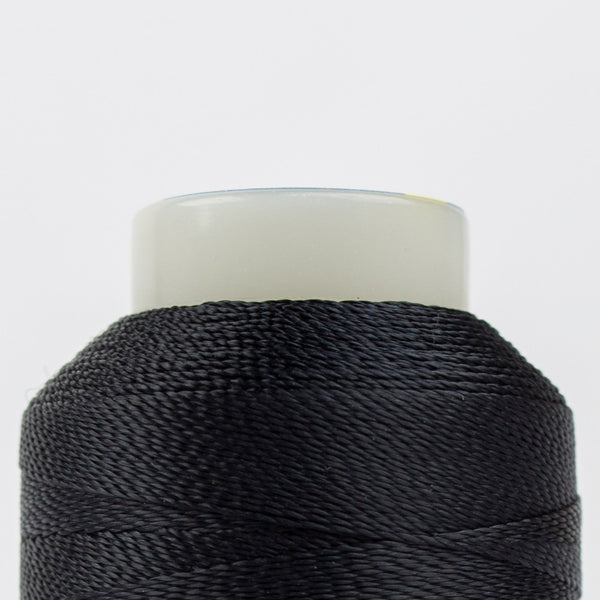 AC160 - Accent 12wt Rayon Black Thread - wonderfil-online-uk