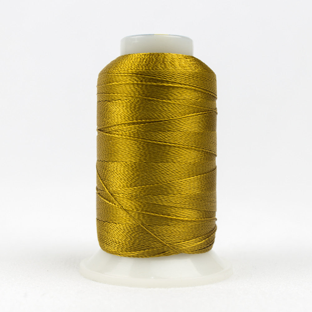 AC2121 - Accent 12wt Rayon Dark Gold Thread - wonderfil-online-uk