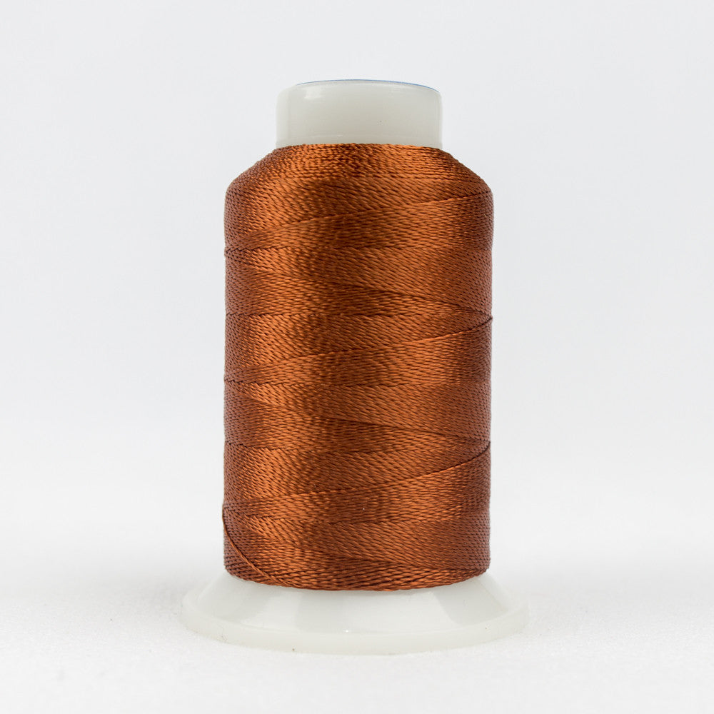 AC7123 - Accent 12wt Rayon Copper Brown Thread - wonderfil-online-uk