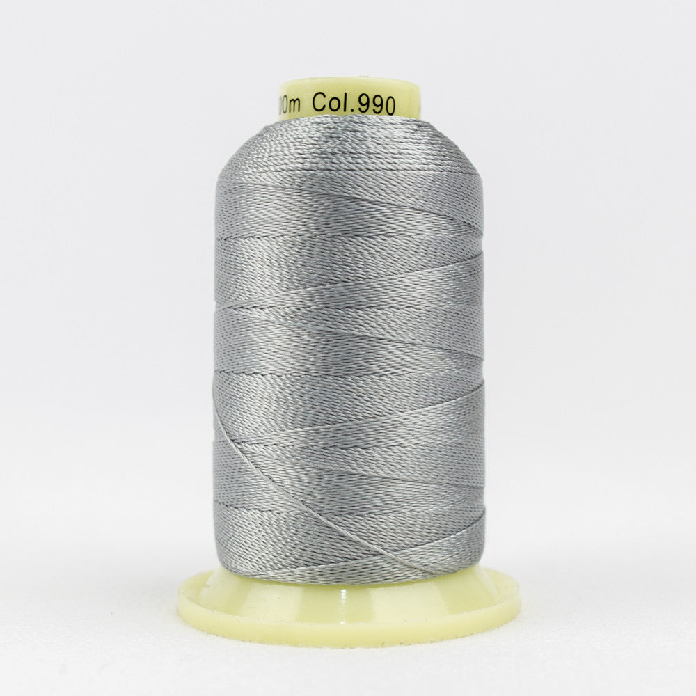 AC990 - Accent 12wt Rayon Light Grey Thread - wonderfil-online-uk