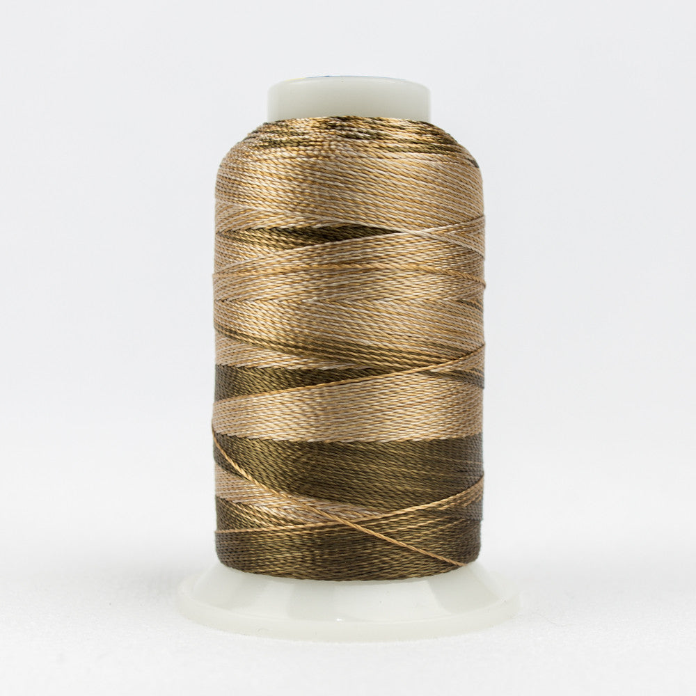 ACM07 - Accent 12wt Rayon Beige Brown Thread - wonderfil-online-uk